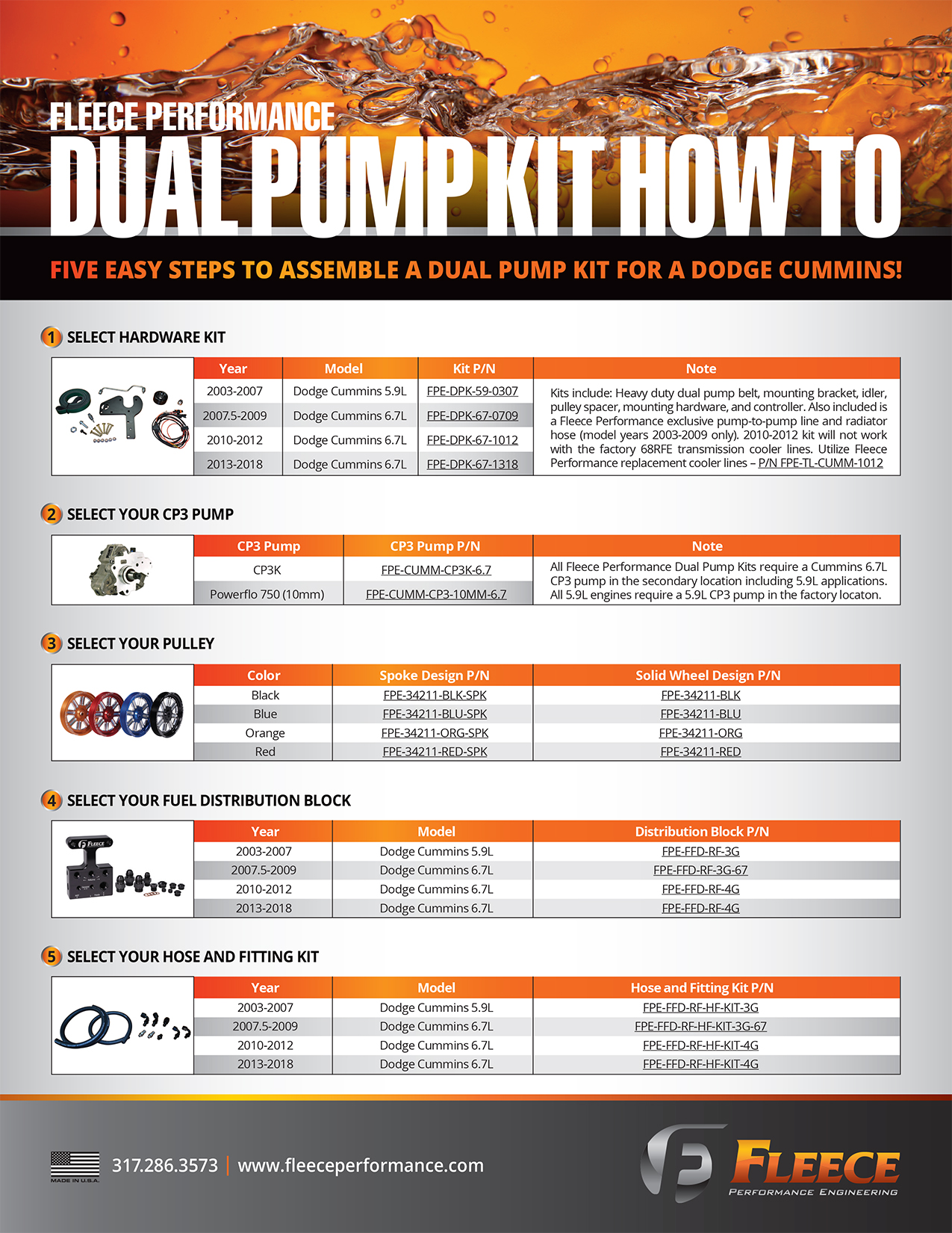 Dual Pump Kits Fuel System Fleece Performance Engineering Inc Innovating Diesel Performance